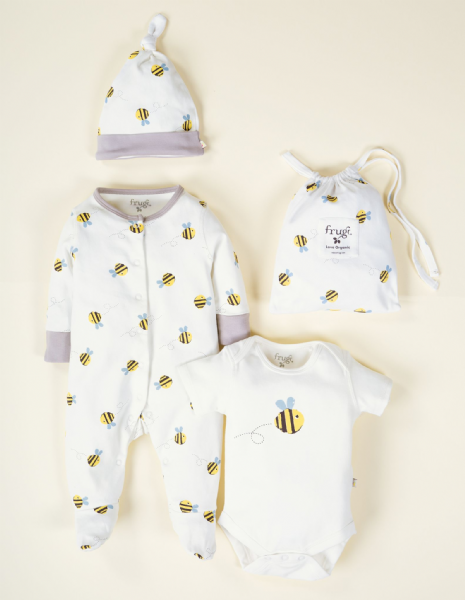Frugi Buzzy Bees Baby Gift Set